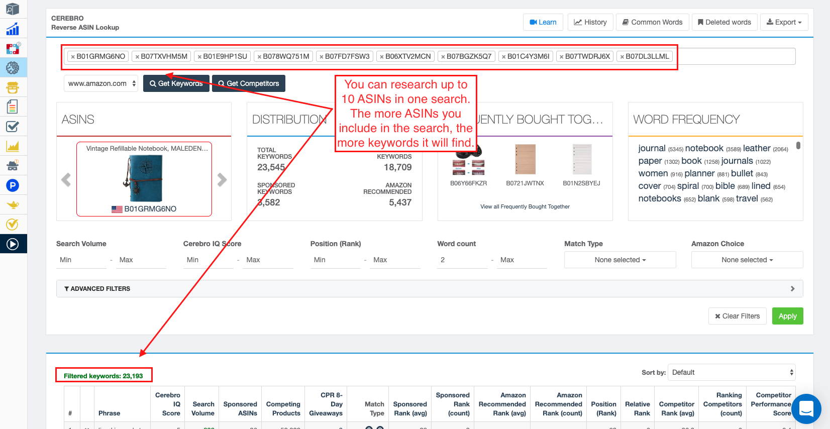 How To Use Cerebro To Find The Best Keywords For Your