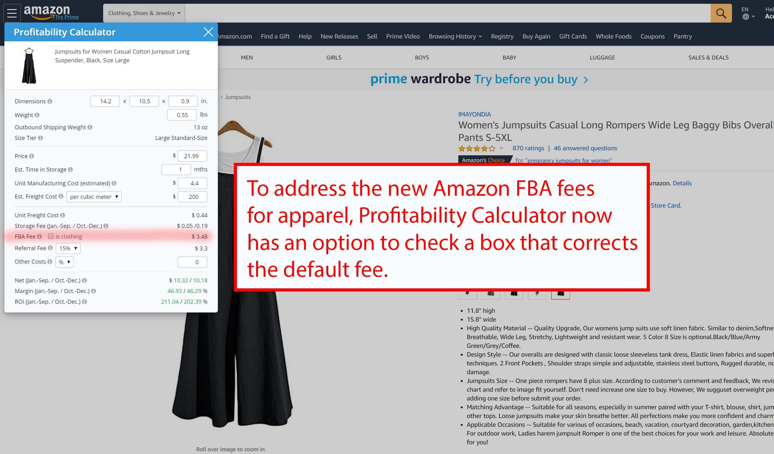 fba fees calculator